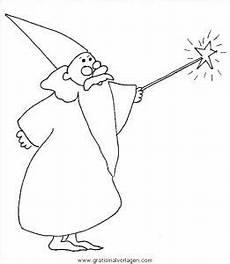 Zauberer Malvorlagen Pdf Zauberer 01 Gratis Malvorlage In Fantasie Zauberer Ausmalen