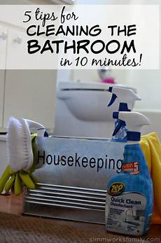 Clean Bathroom Once A Week by 5 Tips For Cleaning The Bathroom In 10 Minutes With Zep
