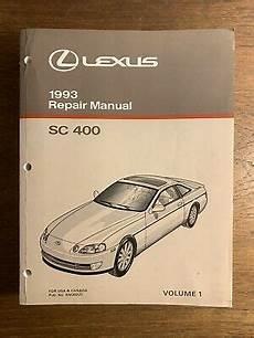 free auto repair manuals 1993 lexus sc engine control 1993 lexus sc400 sc 400 engine transmission shop service repair manual 1uz vol 1 ebay