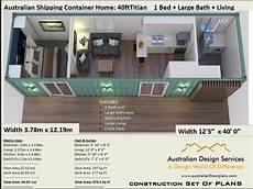 shipping container house plans full version cad dwg version 40 foot shipping container home full