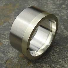 mens wide stainless steel gold wedding ring
