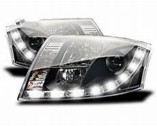 2 led headlights audi tt 8n black yakaequiper