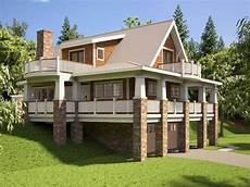 sloping lot house plans hillside hillside house plans with walkout basement hillside house