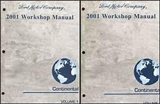 car repair manuals download 2001 lincoln continental electronic valve timing 2001 lincoln continental repair shop manual original 2 volume set