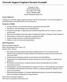 resume network suport enginer sle network engineer resume 9 exles in word pdf