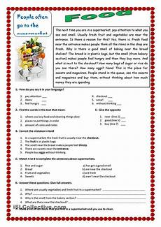 money worksheets 2323 an esl reading exercise about food in a supermarket esl worksheet of the day on april 20 2015