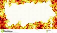 feu point burning frame on white background stock