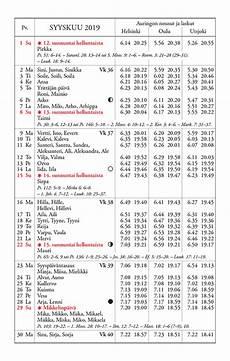 kalenteri vuodelle 2019 yliopiston almanakkatoimisto