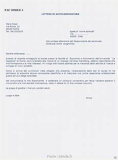 lettere di autocandidatura simpatico esempio lettera di presentazione candidatura