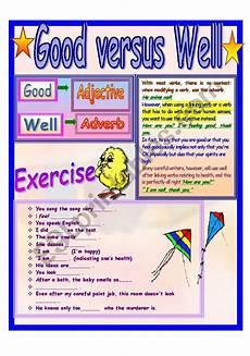 good versus well esl worksheet by demmieb