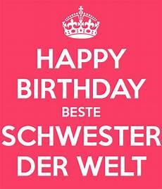 happy birthday beste schwester der welt poster alex