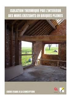 isolation thermique des murs intérieurs isolation thermique par l int 233 rieur des murs existants en