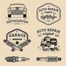 Garage Logo Vector by Set Of Vintage Garage Logo Stock Vector 169 Vladayoung