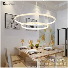 Led Deckenleuchte Esszimmer - circle rings modern led ceiling light home led hanging