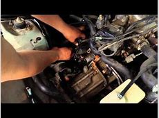 96 honda civic starter removal part 1   YouTube