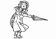 Gratis Malvorlagen Regenschirm Word Bilde 229 Fargelegge Jente Med Paraply Gratis Bildene For