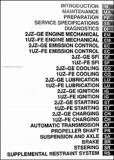 how to download repair manuals 1996 lexus gs spare parts catalogs 2000 lexus gs 300 and 400 shop manual set new gs300 gs400 repair service oem ebay