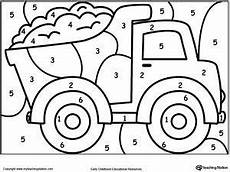 decimal numbers worksheet 7221 color by number truck preschool coloring pages preschool colors coloring pages