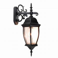 outdoor exterior lantern wall light lighting fixture black