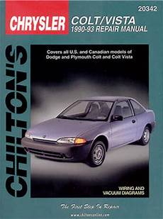 manual repair autos 1993 plymouth colt vista regenerative braking dodge colt vista chilton repair manual 1990 1993 hay20342