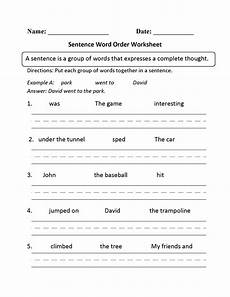 sentence building worksheets grade 2 21058 sentence word order worksheet kindergarten sentences word order and sentence