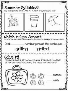 summer review for 1st graders entering 2nd grade summer