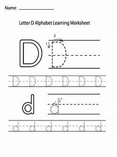 letter d alphabet learning worksheet preschool crafts