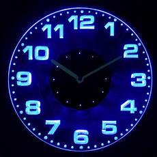 cnc2007 g round modern numerals illuminated wall neon clock sign led night light ebay