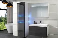 Badezimmermöbel Grau Hochglanz - kaufexpert badm 246 bel set ledox 170 cm grau hochglanz wei 223