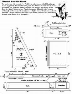 bluebird bird house plans peterson bluebird nest box plans free the peterson house