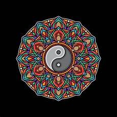 Malvorlagen Yin Yang Gratis Yin Yang Colorful Mandala Premium Vector