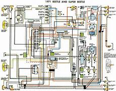 vw beetle and super beetle 1971 electrical wiring diagram all about wiring diagrams