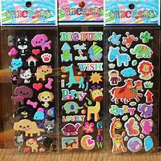 3d sticker 10pcs lot stickers 3d bubble animals sticker snowboard