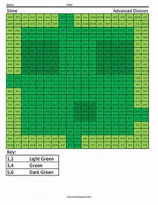 advanced division worksheet answer key 7004 slime advanced division coloring squared