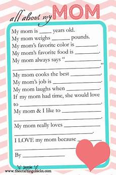 mother s day questionnaire free printable download the crafting