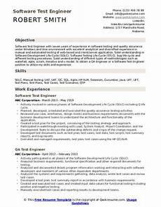 test engineer resume sles qwikresume