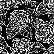 Tapete Schwarz Weiß Muster - schwarz wei 223 muster in und bl 228 tter spitzen