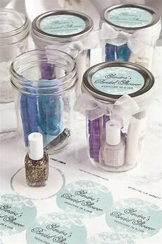 pedicure in a jar bridal shower favors bridal shower