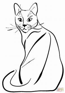 Katze Sitzend Malvorlage Sitting Cat Coloring Page Free Printable Coloring Pages