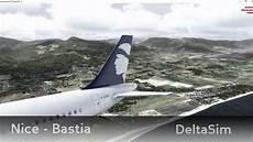 Vol Bastia P3d Vol Commente Bastia A320 Air Corsica