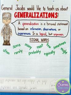 generalizations anchor chart includes freebie school ideas anchor charts 3rd grade