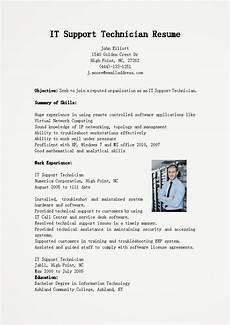 resume sles it support technician resume sle