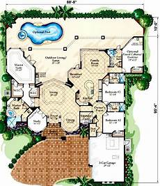 mediterranean house plans with pools courtyard mediterranean house plans pool with courtyards