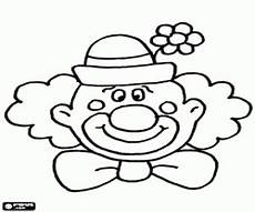 Malvorlagen Clown Bunny Clown With A Hat With A Flower Coloring Page