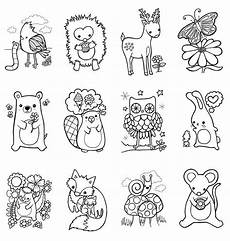 woodland animals coloring pages 17187 the week of school and classroom pictures color words and retell brown b with
