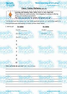 multiplication worksheets x6 4683 times tables patterns x3 x6 teach my