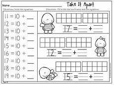 kindergarten math topics 10 and 11 composing and decomposing numbers 11 19