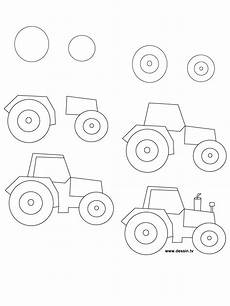 How To Draw A Tractor Step By Step Drawing