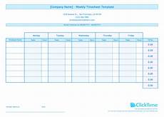 timesheet exle weekly timesheet template for multiple employees clicktime