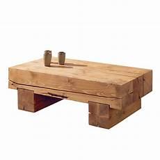 Table Basse Poutre En Pin Massif Aux Lignes 233 Pur 233 Es